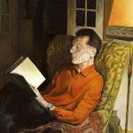 Die Erstausgabe Porträt Hermann Sawitzky, Öl auf Papier, 2012