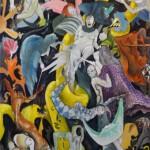 Akrobaten und Dompteure, Öl auf Leinwand, 2007