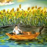 Die Angler, Öl auf Karton, 2008