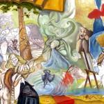 Endlosschleife Bild Nr.3, Öl auf Karton, 2008
