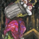 Ohne Titel, Aquarell auf Papier, 2009