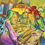 Abendliches Gaukelspiel, Aquarell auf Papier, 2009