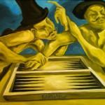 Monologentausch, Öl auf Leinwand, 2010