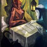 Der Kartenleger, Öl auf Leinwand, 2010