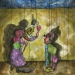 Marionettenserie Nr. 1, Aquarell auf Papier, 2011