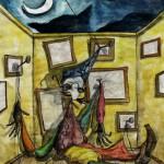 Marionettenserie, Aquarell Nr.4 - 29x36cm
