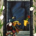 Puppentheater; Öl auf Karton, 2011