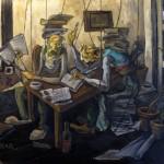 Dialog der Gelehrten, Öl auf Leinwand, 2012
