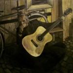 Der Gitarrist Montenegro, Öl auf Leinwand, 1x1m, 2012