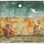 Kargar Bild Nr. 7 aus der Marionettenserie - Aquarell auf Papier, 2013 - 24x29cm - Preis auf Anfrage