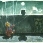 Kargar Bild Nr. 8 aus der Marionettenserie - Aquarell auf Papier / Collage, 2013 - Preis auf Anfrage